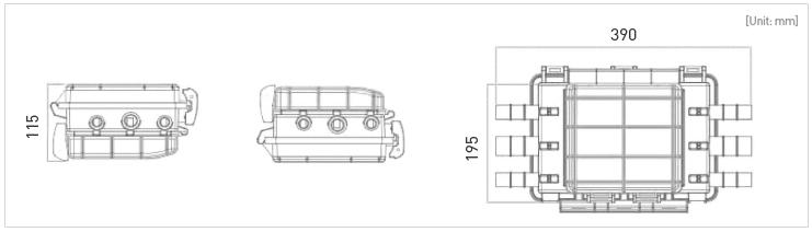 Caja Distribución TAP-B dim